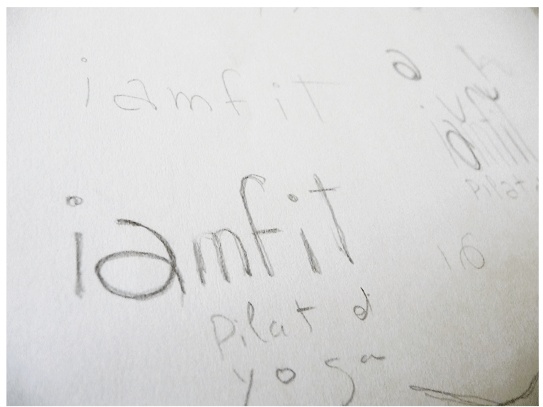 Logotype study for I am Fit, Pilates and Yoga (2)