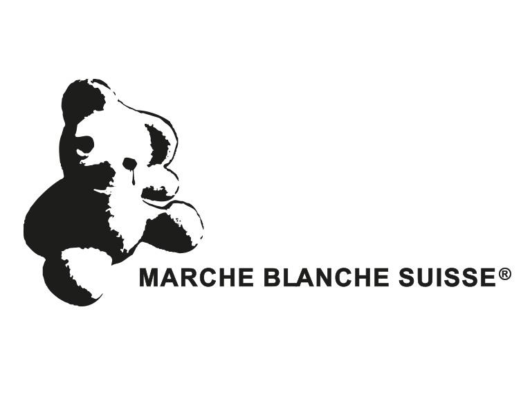 Logotype for La Marche Blanche Suisse - black and white