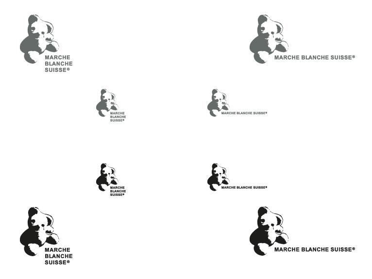 Logotype for La Marche Blanche Suisse - different versions