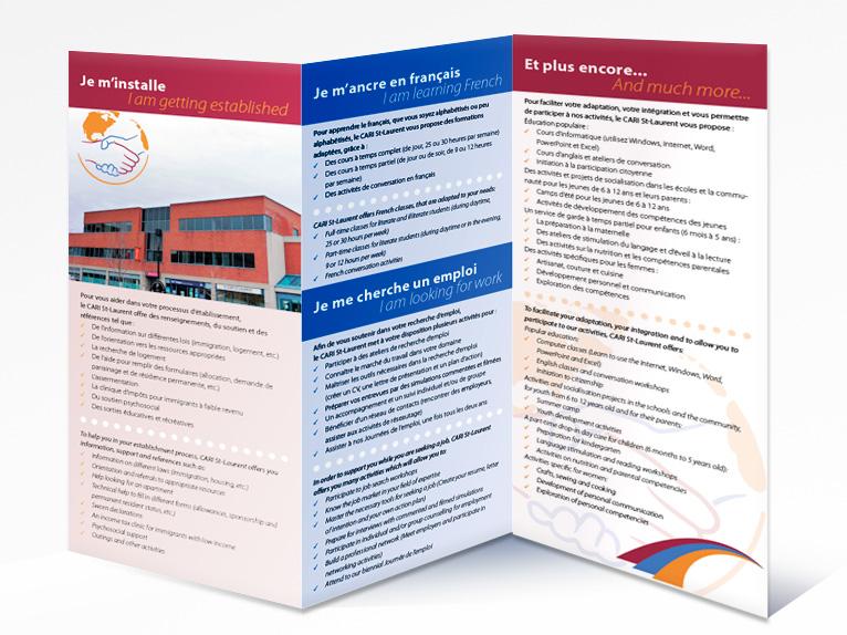 Leaflet for CARI St-Laurent (Back)