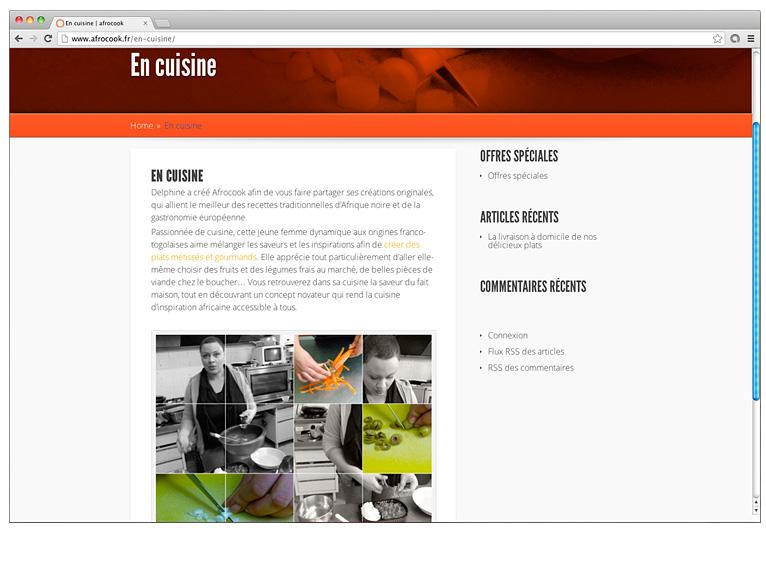 Webpage image for Afrocook restaurant
