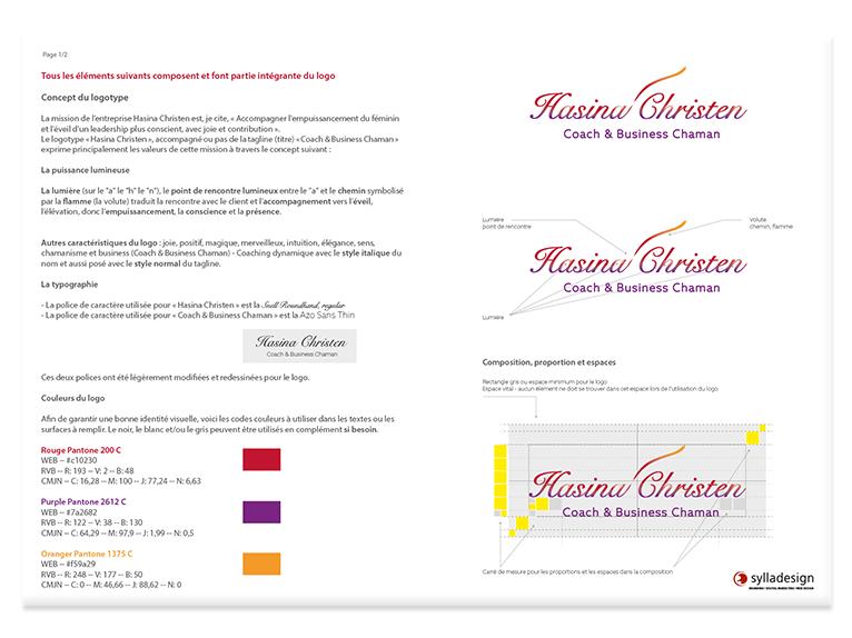 Hasina Christen - Graphic charter