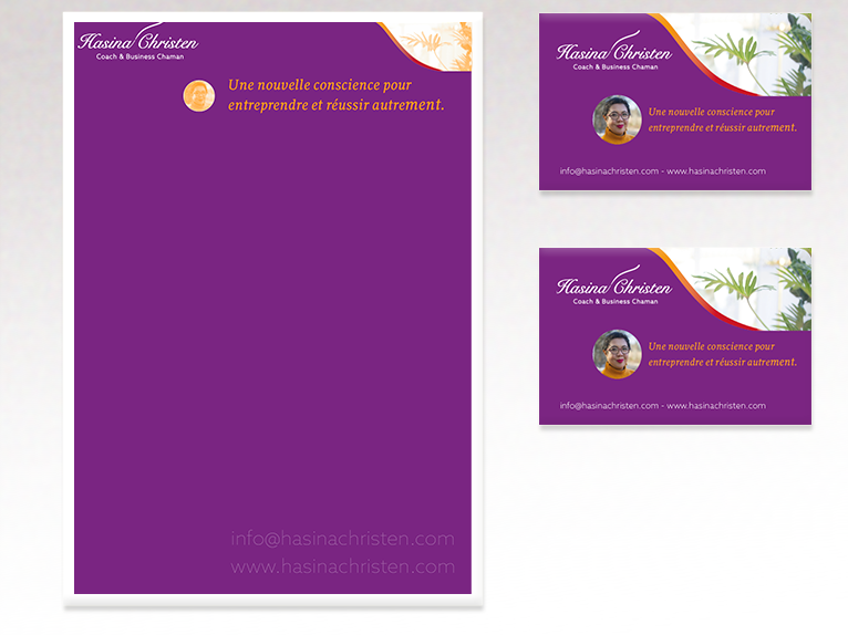 Hasina Christen - Stationery and business cards designed by SyllaDesign